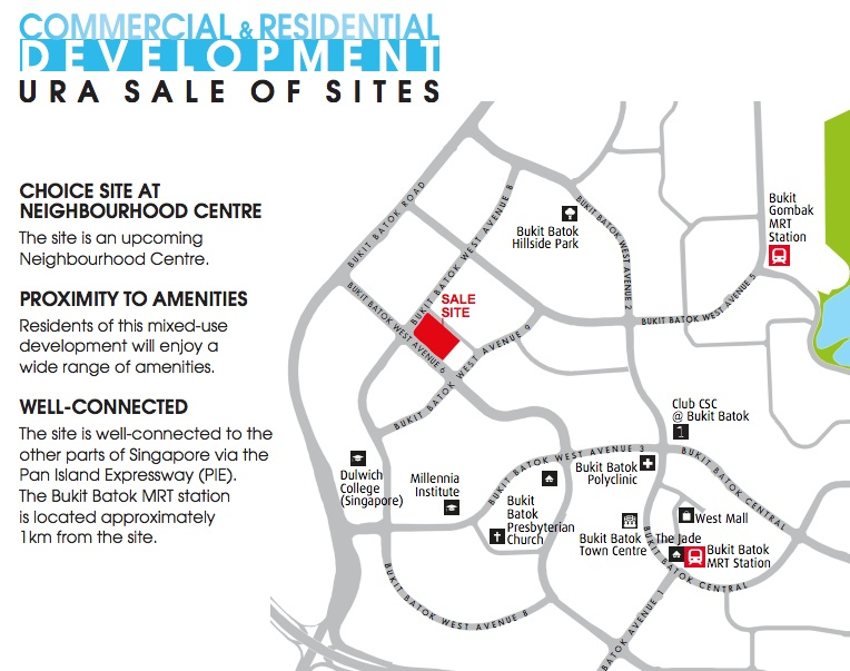 Bukit Batok Mixed Development at Bukit Batok West Ave 6