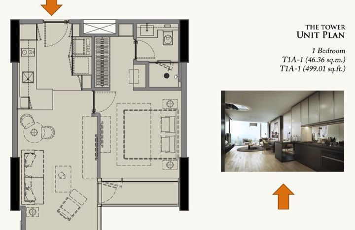 28 CHIDLOM 1 Bedroom Unit Plan