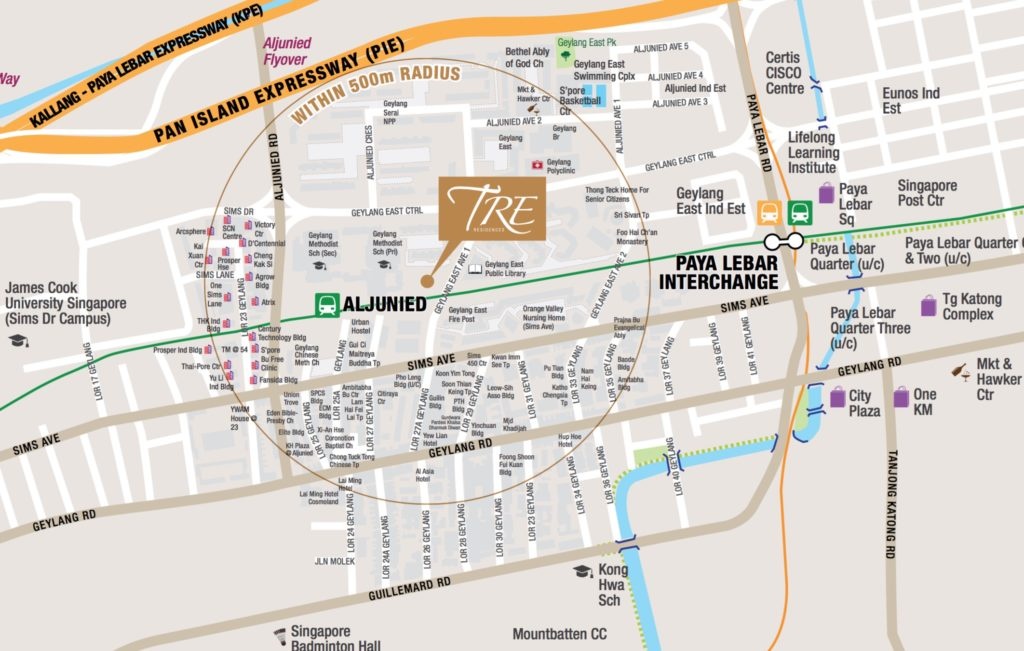 Tre Residence Location Map
