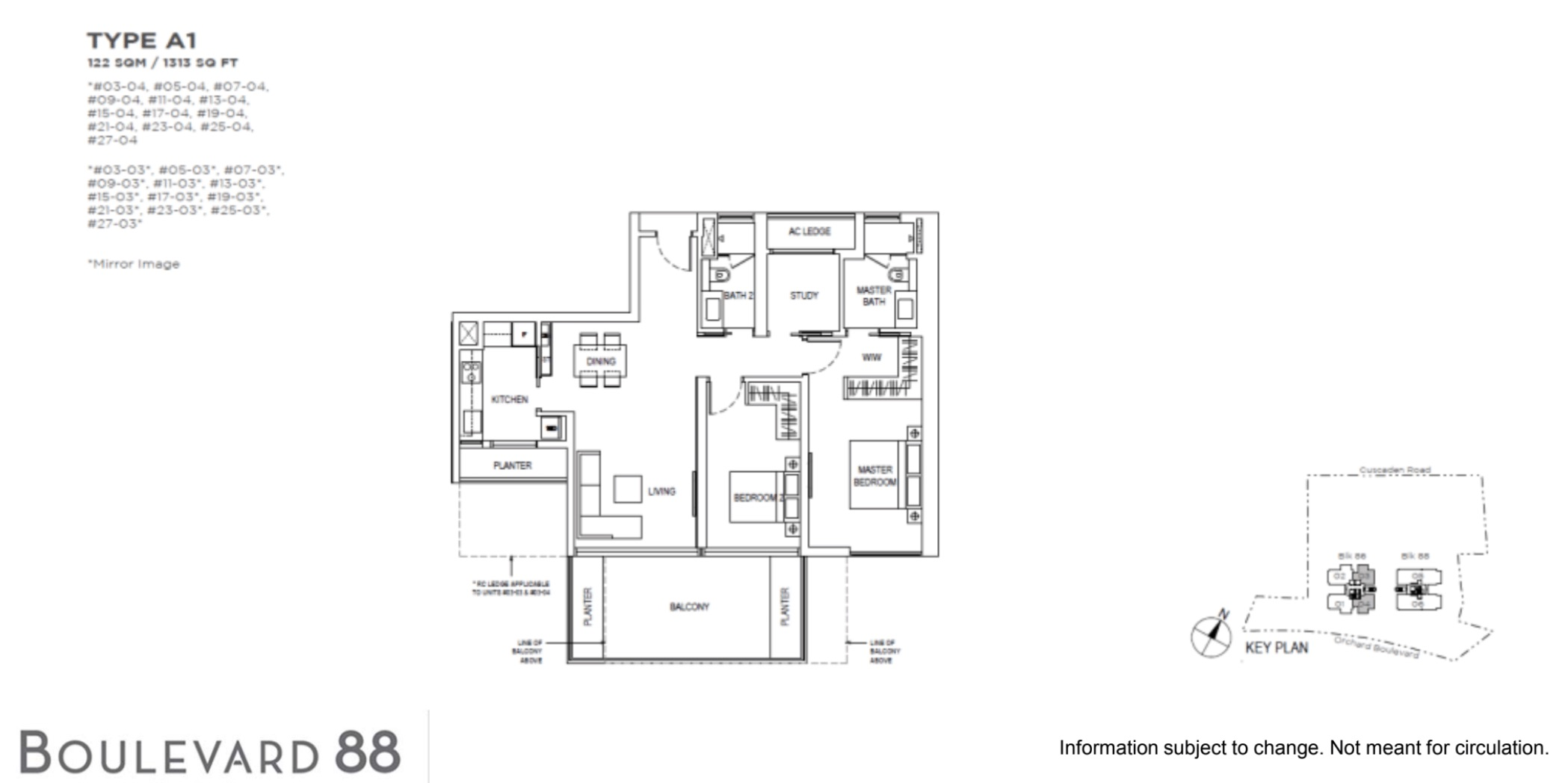 Boulevard 88 By Cdl Call Showflat Hotline At 6100 7722 For Ebrochure
